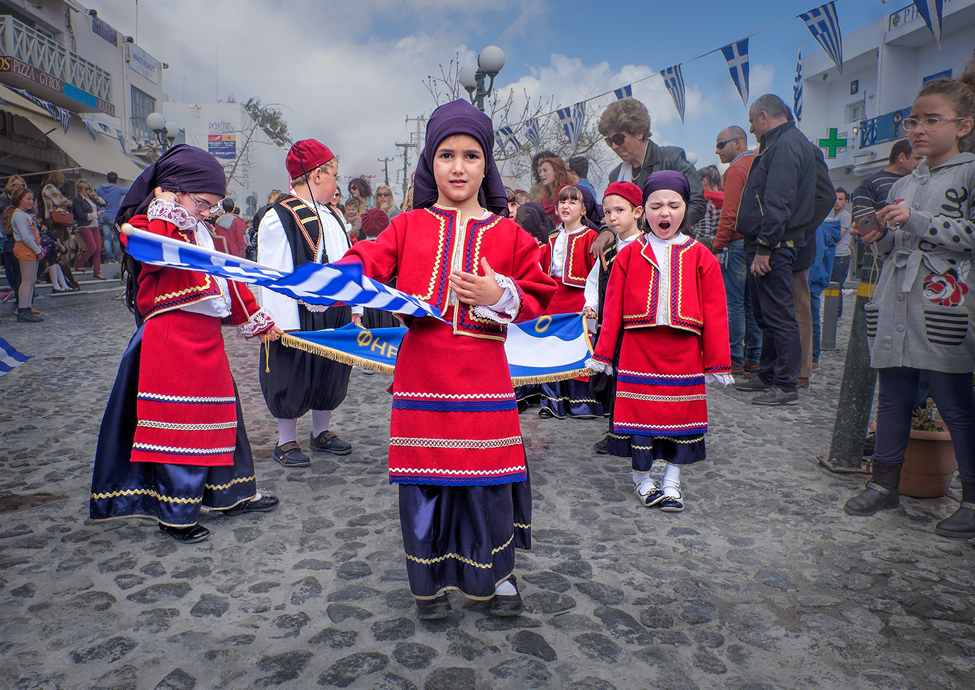 Greek Independance Day Parade Satorini