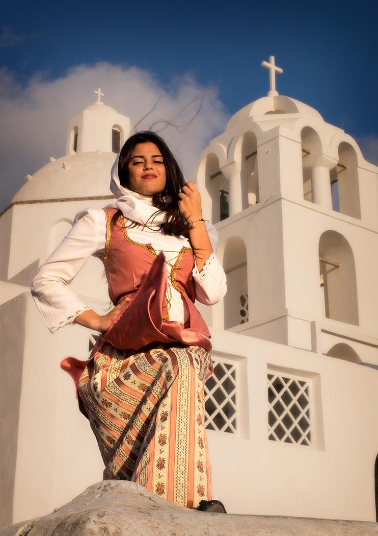 Santorini Girl