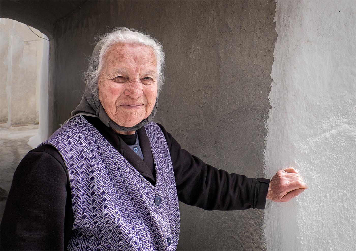 Santorini Old Town Grandma
